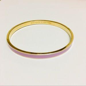 Kate Spade Pink Enamel Gold Tone Bangle Bracelet